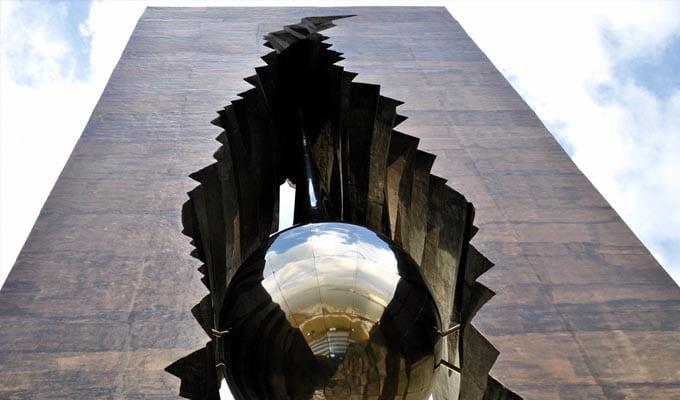 teardrop monument
