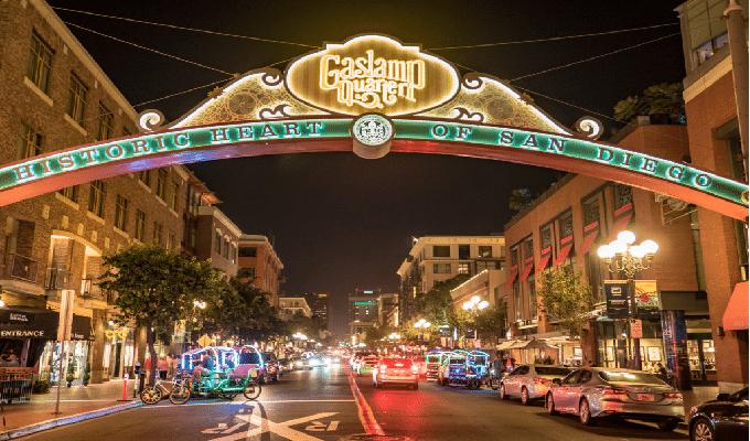 Gaslamp Area Of San Diego