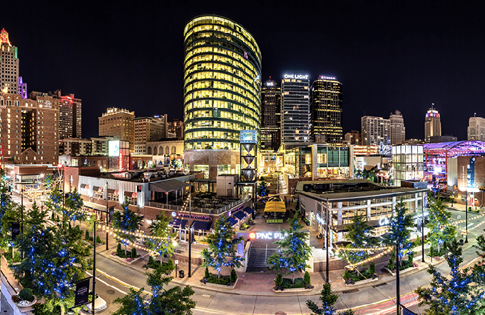 Kansas City Power and Lights District Hotels